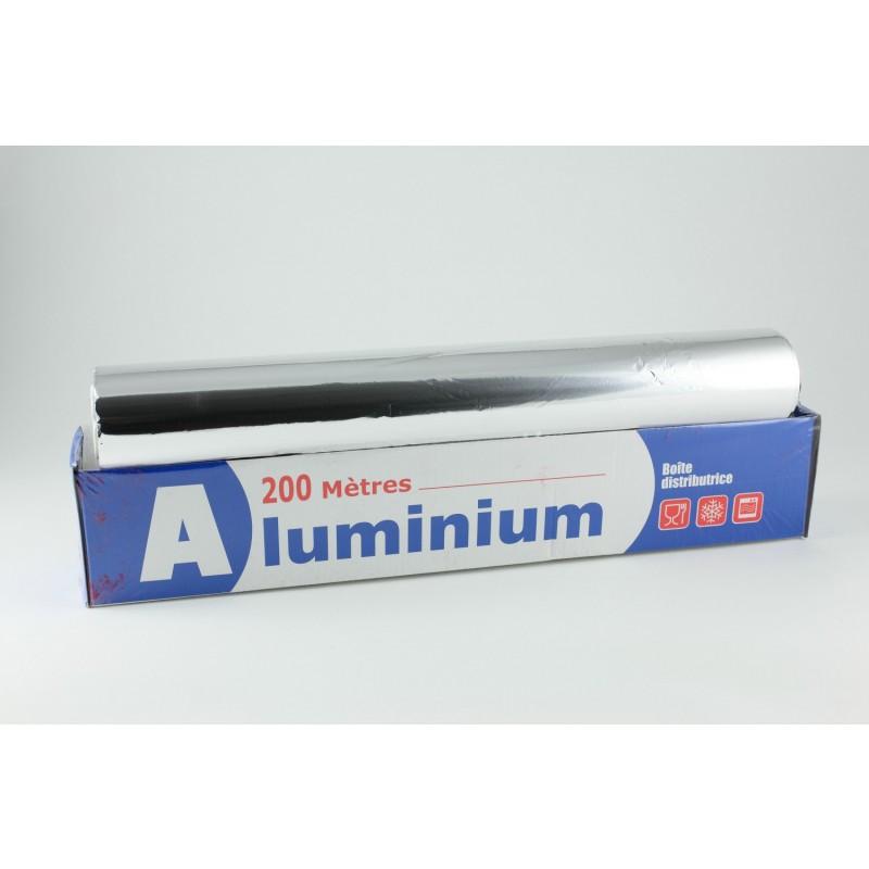 Papier aluminium alimentaire 200m tres x 45cm ep 11microns emballage alime - Cyberplus paiement net ...