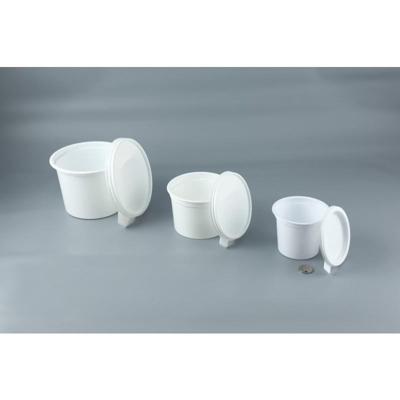 pot alimentaire plastique avec couvercle contenance 25cl pqt 50 pot de cr me emballage. Black Bedroom Furniture Sets. Home Design Ideas