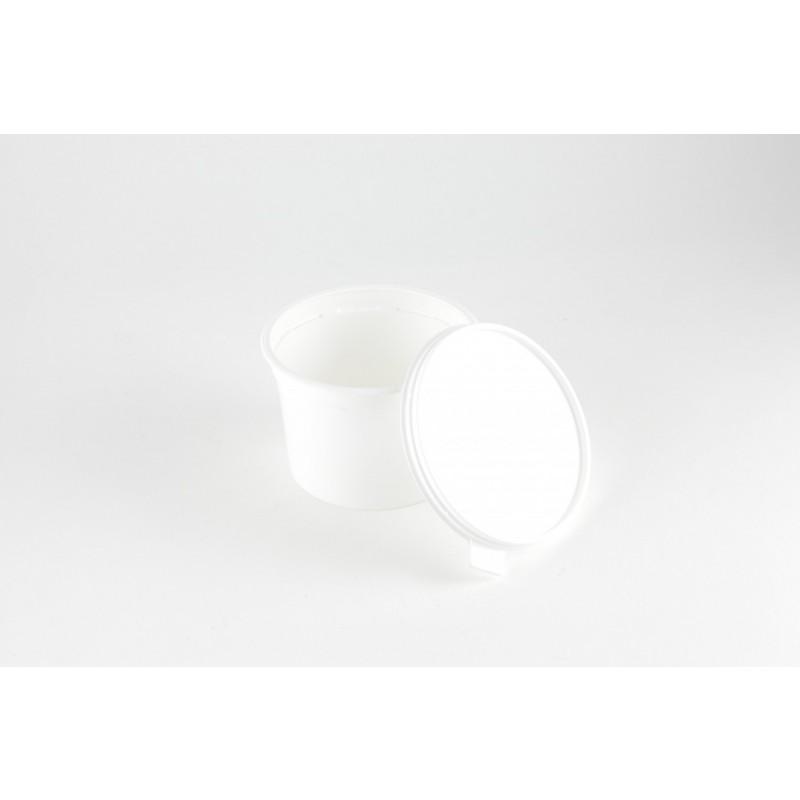 pot alimentaire plastique avec couvercle contenance 50cl pqt 40 emballage alimentaire fournimag. Black Bedroom Furniture Sets. Home Design Ideas
