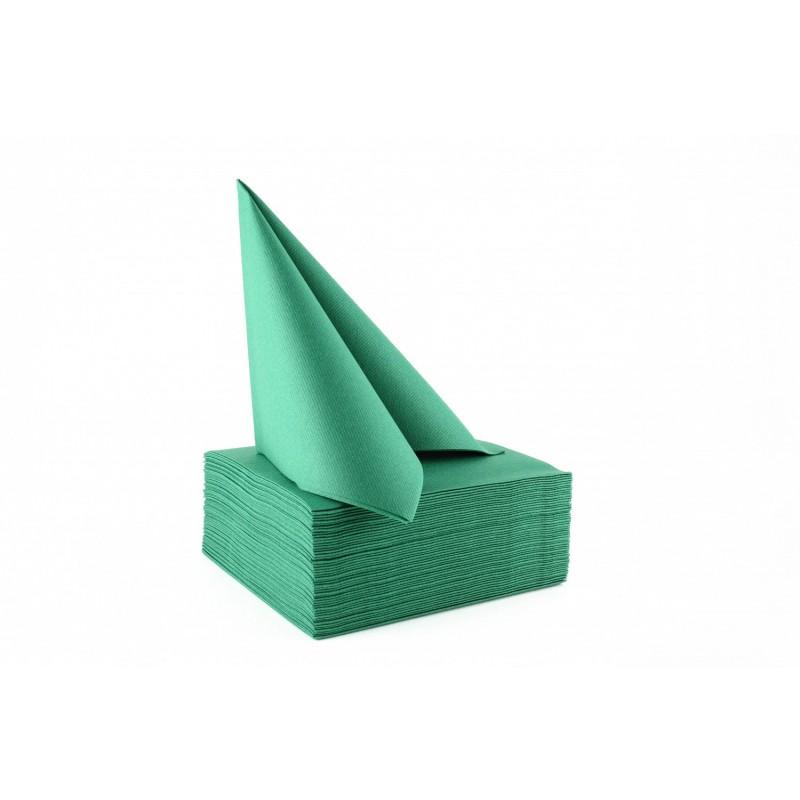 Serviette papier non tiss e 40x40 vert sapin serviette jetable fournimag - Cyberplus paiement net ...