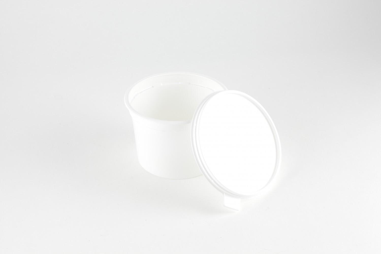 pot alimentaire plastique avec couvercle contenance 50cl pqt 40 fournimag. Black Bedroom Furniture Sets. Home Design Ideas