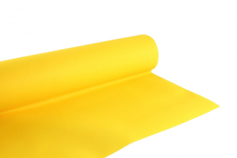 Nappe en papier jetable non tissé 1.20 M x 25 M Passion Yellow
