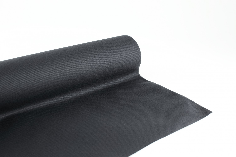 Non Jetable nappe en papier jetable non tissé 1.20 m x 10 m noir - nappe