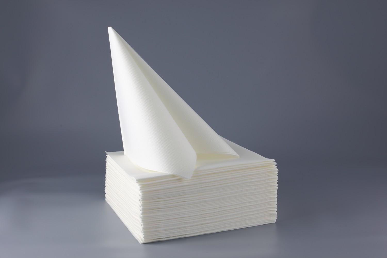 Serviette papier non tissée 40x40 Blanc