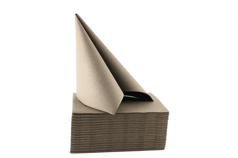 Serviette papier non tissée 40x40 Chocolat