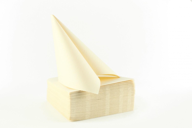 Serviette papier non tissée 40x40 Ecru