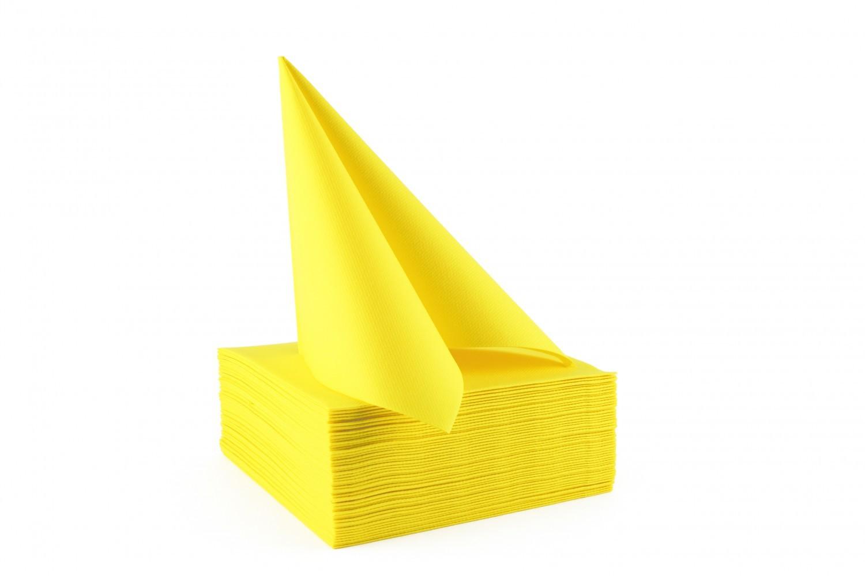 Serviette papier non tissée 40x40 Jaune