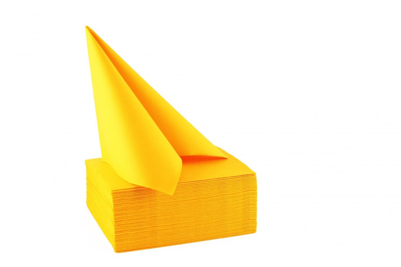 Serviette papier non tissée 40x40 Mandarine