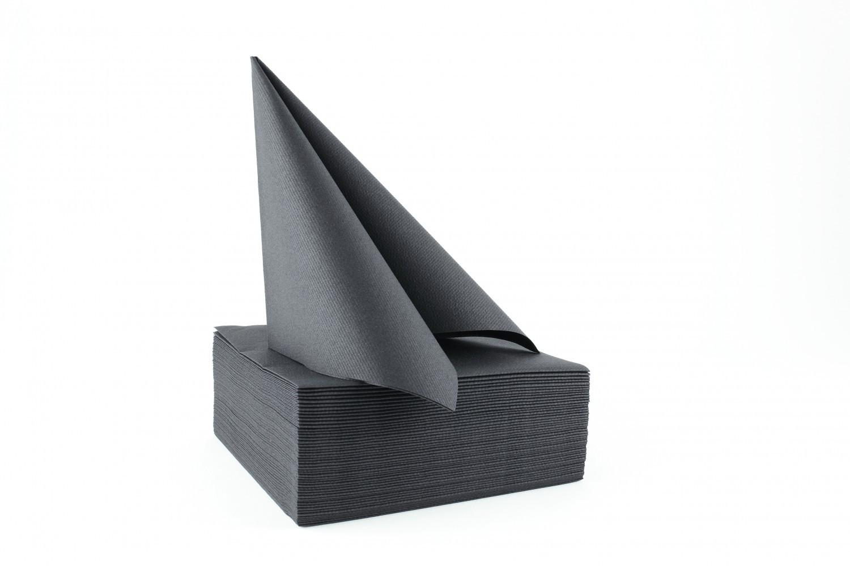Serviette papier non tissée 40x40 Noir
