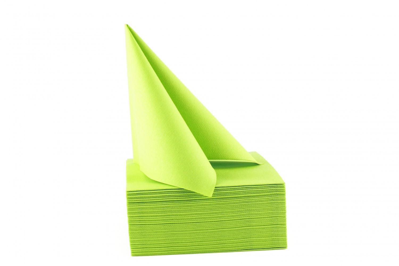Serviette papier non tissée 40x40 Vert anis