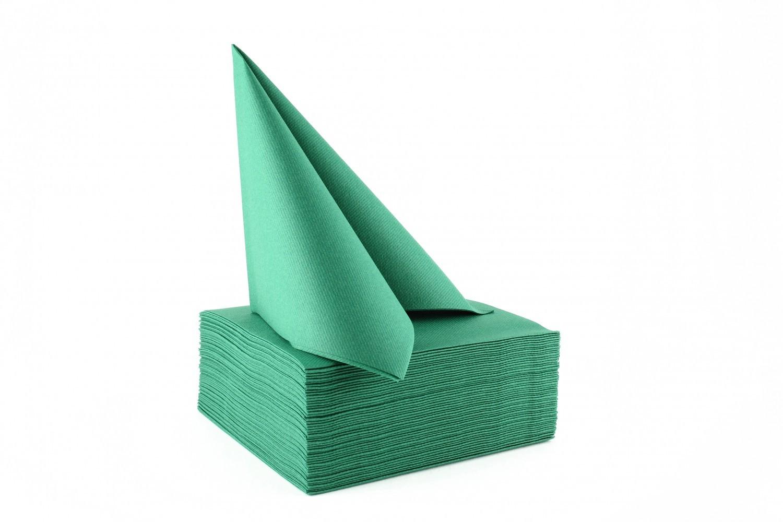 Serviette papier non tissée 40x40 Vert Sapin